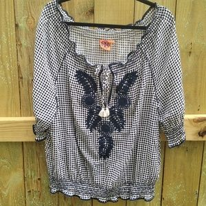 Tory Burch Peasant Blouse Top Small